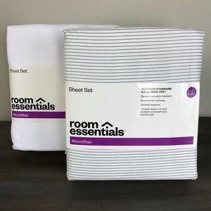 2 Room Essentials Brushed Microfiber Sheets Sets